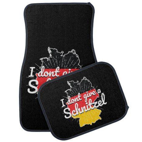 Dont Give Schnitzel Germany Oktoberfest Car Floor Mat | Zazzle.com