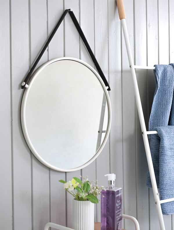 Speil Katrineholm hvit metall - Heimla