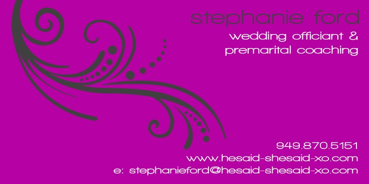 wedding officiant serving all of Southern California!  www.hesaid-shesaid-xo.com