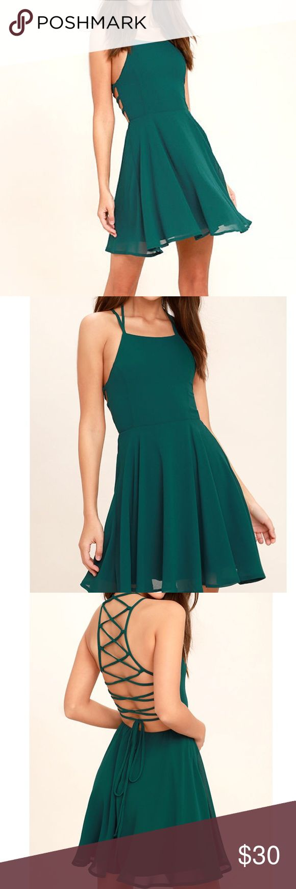 Lulus Forest Green Dress new without tags - retail was $50 Lulu's Dresses
