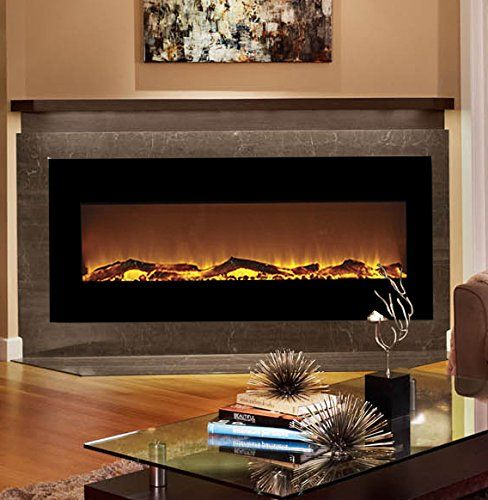 Moda Flame Houston 50 Inch Electric Wall Mounted Fireplace