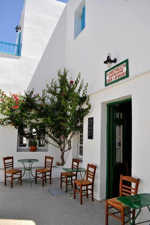 A small cafe in Artemonas village, Sifnos , Greece