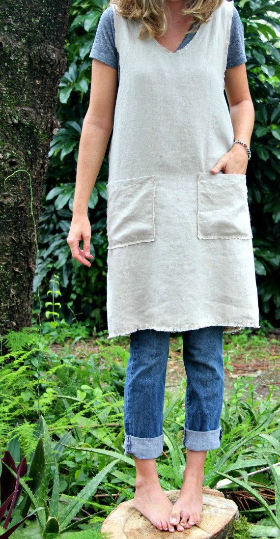 Pinafore Apron with pockets by RetroHome on Etsy, $54.00