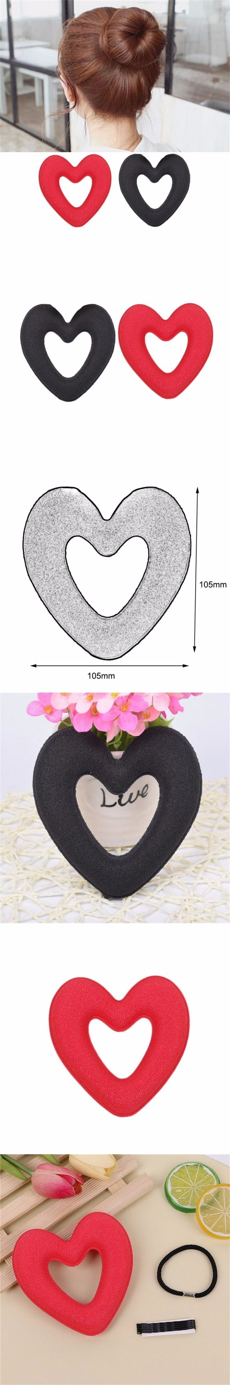 Korean Style Heart-Shaped Doughnuts Lady Lovely New Hair Bud Hair Braiding Tools Hair Braiders Hair Styling Tools new fashion