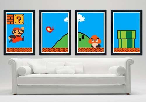 Super Mario Bros Custom Poster Set @Joyce Novak Booker Liu Buske