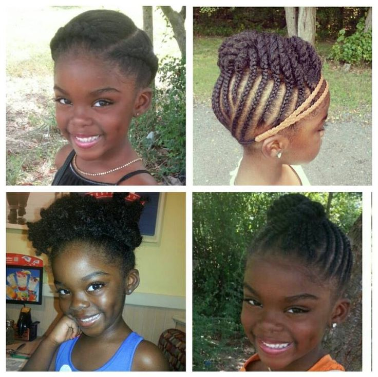 Admirable 1000 Images About Natural Hairstyles For Kids Braids Twists Short Hairstyles For Black Women Fulllsitofus