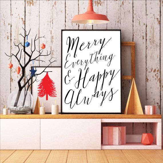 $4.00 This Merry Christmas sign makes my whole home merry and bright! A Christmas decoration must-have. Budget friendly and comes in black and white and holiday red (you get both!). 8x10