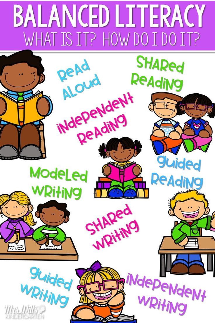 Balanced Literacy Approach.  What is Balanced Literacy? How does it look in a kindergarten classroom?  Look at reading instruction:  read alouds, shared reading, guided reading, and independent reading.  Also look at writing instruction:  Modeled writing, shared writing, interactive writing, guided writing, and independent writing. via @deedee_wills