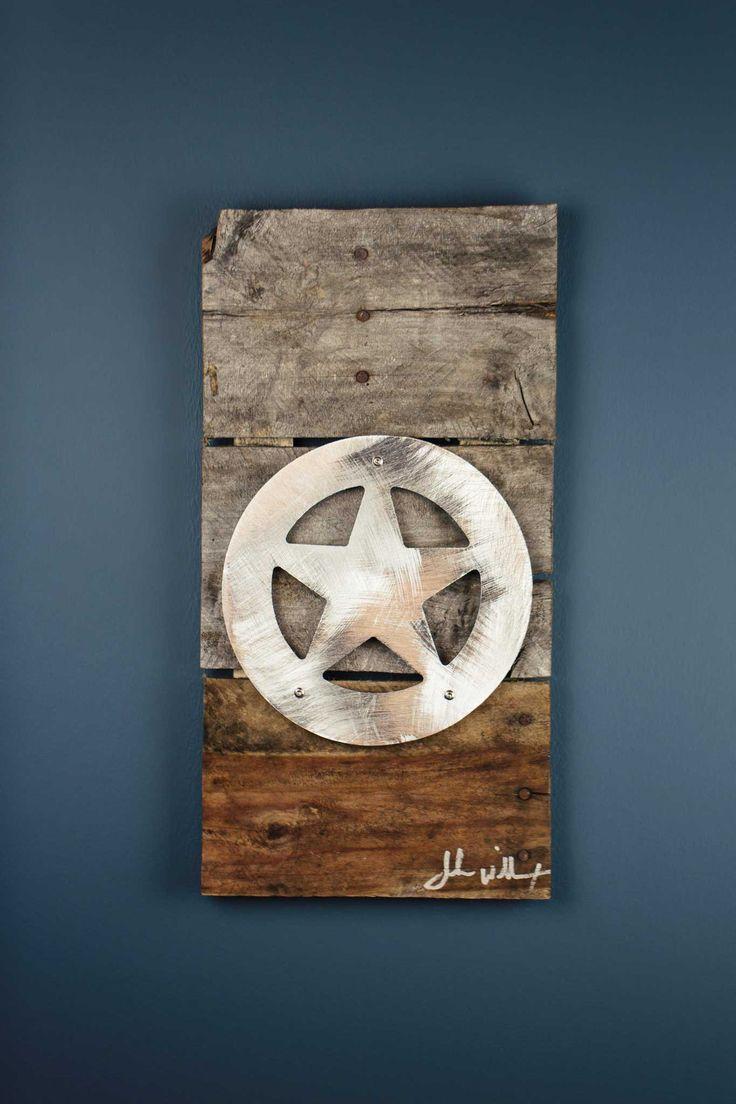 Star Of Texas Ranger Reclaimed Wood Amp Shaped Metal Art