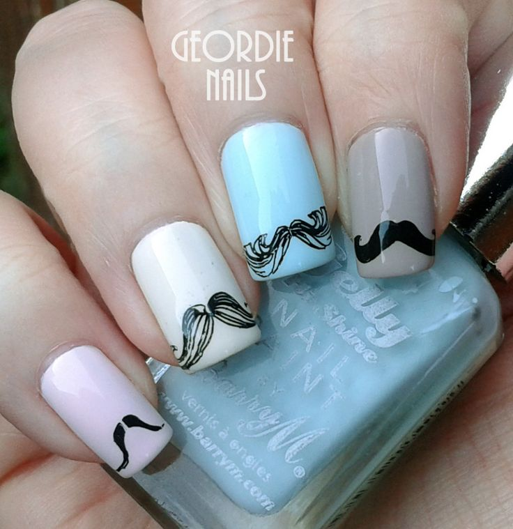 15 best november nails movember moustache images on pinterest moustache nails prinsesfo Image collections