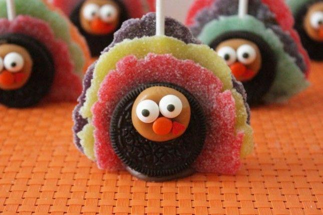 Oreo Turkey Pops! #gobble #gobble