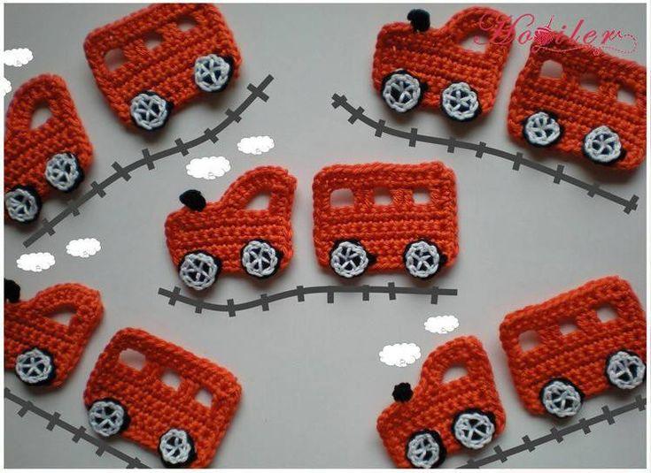 Strickapplikationen für kleine Jungs. Baby Boy Strickmotive. Ergun …