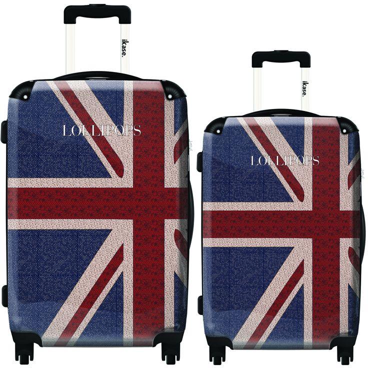 iKase London Flag by Lollipops 2-piece Hardside Spinner Luggage Set