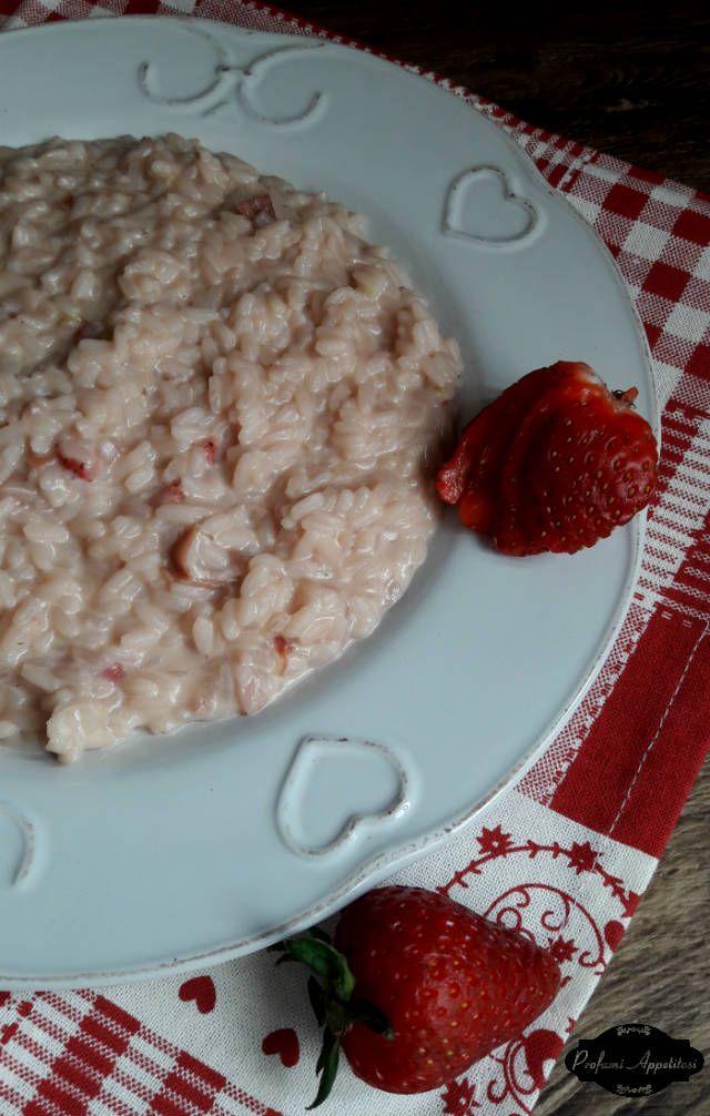 Risotto alle fragole con panna e speck ricetta