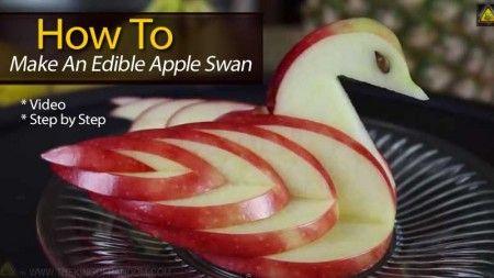 How To Make An Edible Apple Swan