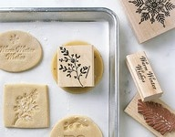 rubber stamp stamped cookies-such a great idea!!  :D