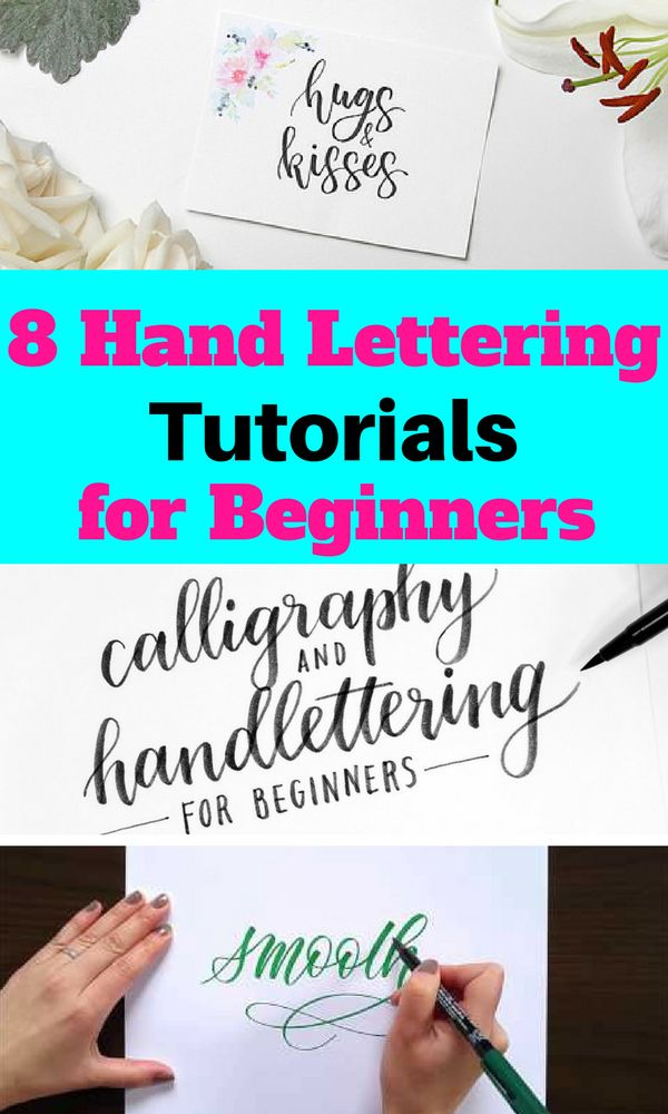 Learn the art of hand lettering with these free and easy tutorials! Your bullet journal will look stunning after this!