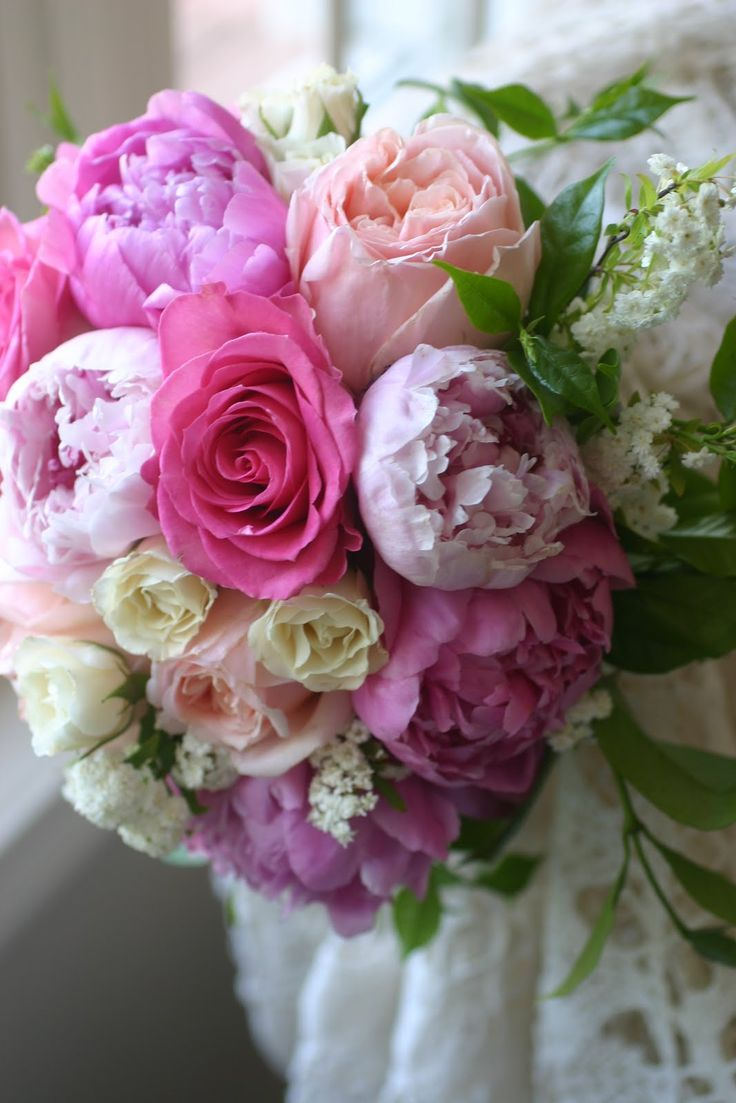 cabbage rose wedding bouquet | ... Wedding Florist: Bridal Bouquet of Peonies, Cabbage roses, spray roses