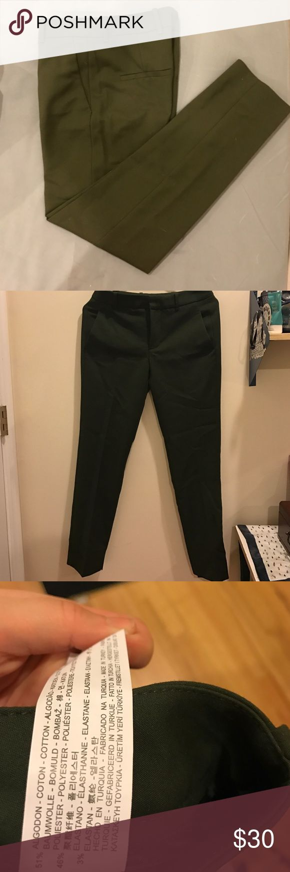 Zara Woman Pants Zara woman straight trousers with pockets/ USA XS; MEX 24 Zara Pants Trousers
