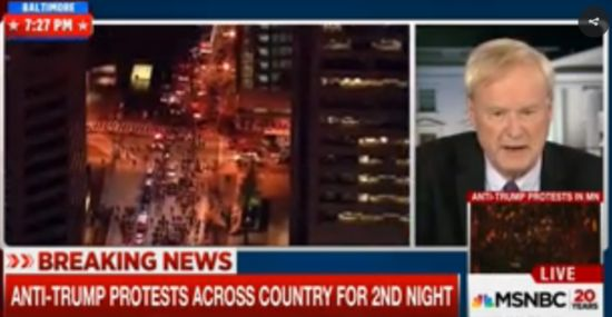 Even MSNBC's Chris Matthews thinks the anti-Trump protesters are wrong: 'They lost'