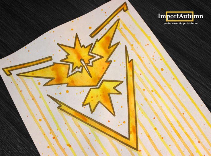 Drawing Team Instinct from Pokemon Go!