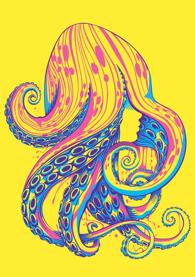 Curls Art Print