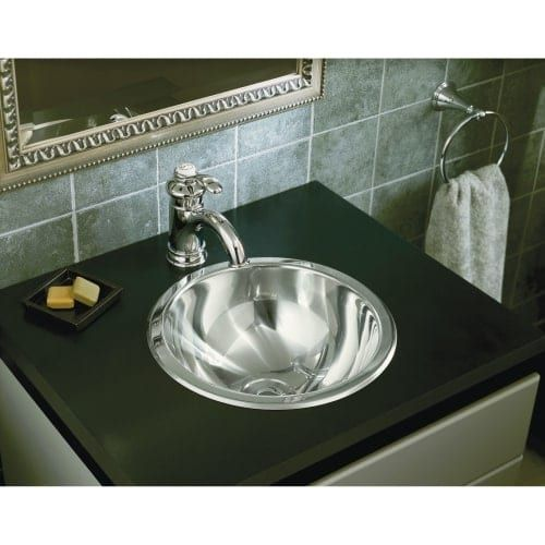 Sterling 131-0 13-5/8 20 Gauge Stainless Steel (Silver) Bathroom Sink