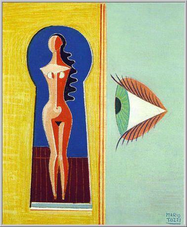 Mario Tozzi 1977: Lo Sguardo. Olio su Tela cm.(55x46) - Collezione Parigi - numero archivio 1004 - numero catalogo generale 77/10.
