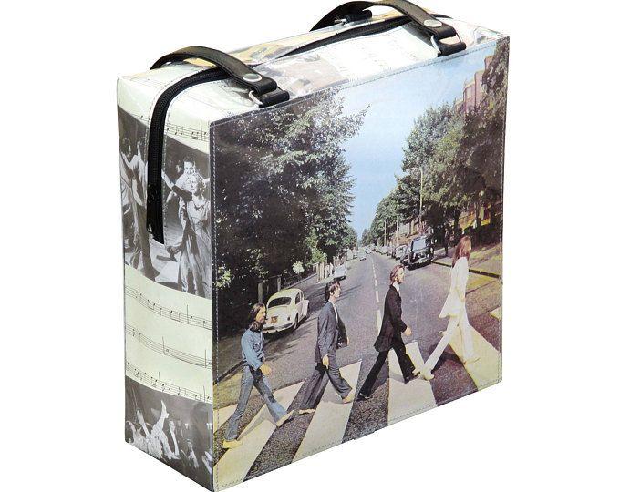 Handbag using Beatles record cover, FREE SHIPPING, Eco friendly bag, Recycled bag, vegan tote bag, upcycling by milo, naveh milo