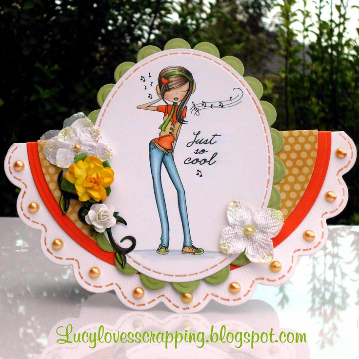 Lucy loves scrapping: All Dressed Up image girly handmade shaped card