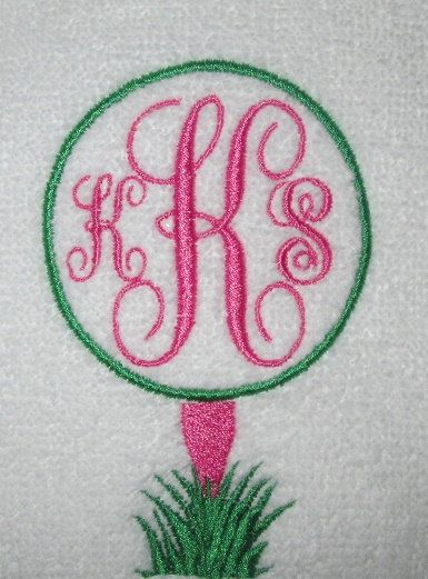 Monogrammed / Personalized Golf Towel You design by SewMeShoppe