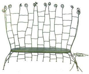 Fertile Garden Zahrada bench by Bohuslav Horak - eclectic - outdoor stools and benches - - by Moss