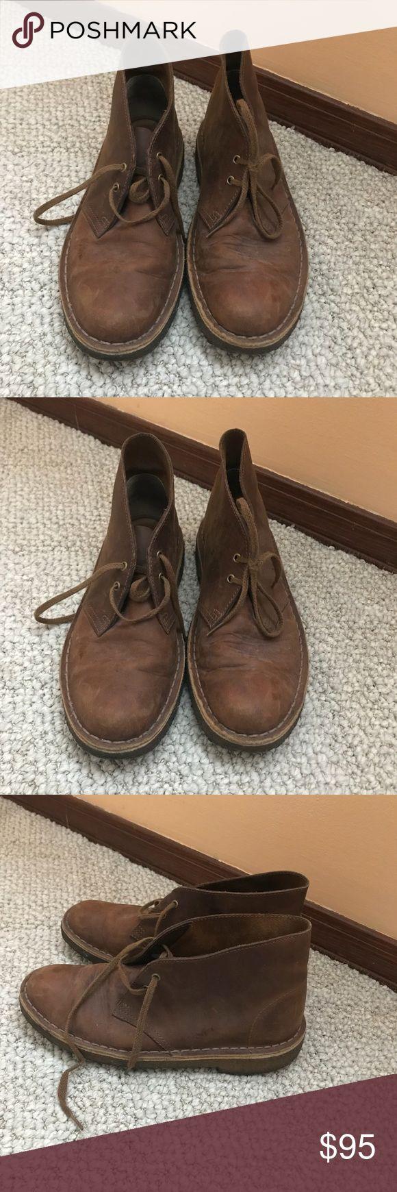 Clark's Women's Original Desert Boot Clark's Women's Original Desert Boot in brown leather. Size 7. Clarks Shoes Ankle Boots & Booties