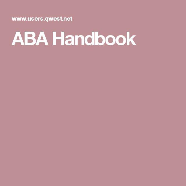 ABA Handbook