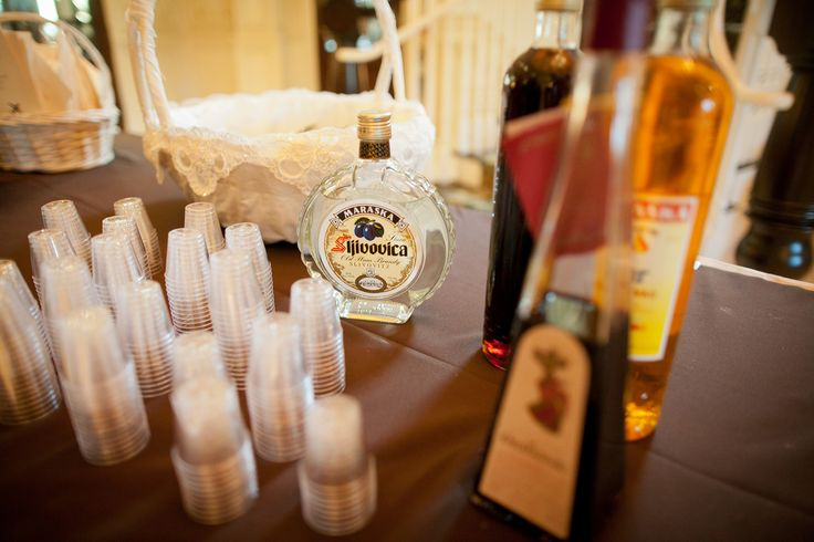 A fun Croatian tradition is to have a shot table once guests arrive at the reception. Traditional liqueurs include brandy made from honey (Medica), plum (Šljivovica), cherry (Višnja), pear (Kruškovac) and walnut (Orahovac).