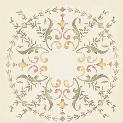 Stencils   19th Century Ceiling Stencil Medallion   Royal Design Studio
