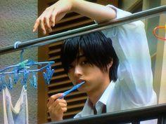 "Kento Yamazaki x Ayame Goriki, J live-action Movie of manga ""L♡DK"", 2014. Plot & Movie: http://myasiantv.com/movie/l-dk/ [Eng. Sub]"