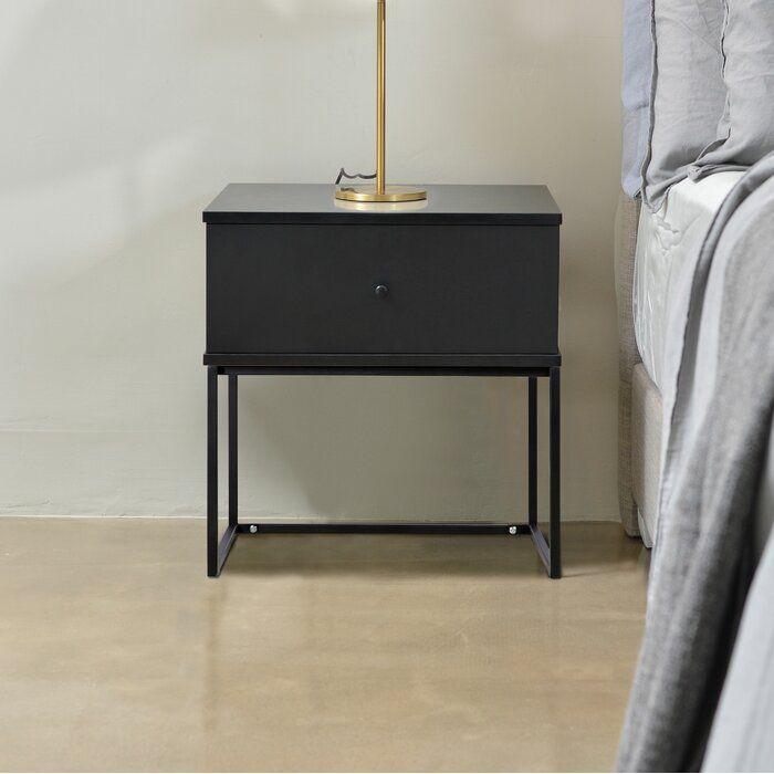 Evangeline 1 Drawer Bedside Table Stylish Bedside Tables Simple Bedside Tables Bedside Table