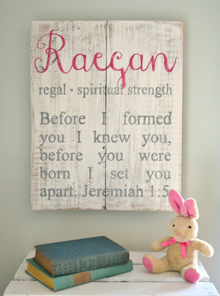 awesome gift for another's child's bday or kiddos rooms! Personalized Child Name Sign {customizable}