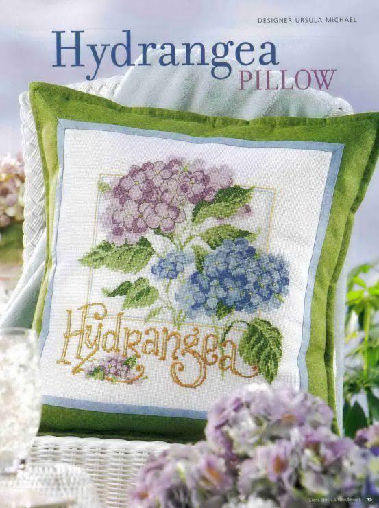 Hydrangea pillow Chart  1