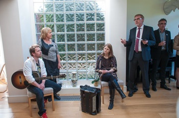 Friday 10th May 2013: Reception at the Norwegian Ambassador's Residence - performing: Eli Storbekken, Georg Buljo and Irene Tillung #IRELAND #NORWAY #DUBLIN #NFDUB