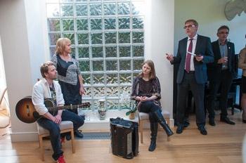 Friday 10th May 2013: Reception at the Norwegian Ambassador's Residence - performing: Eli Storbekken, Georg Buljo and Irene Tillung #IRELAND #NORWAY #DUBLIN #NFDUB