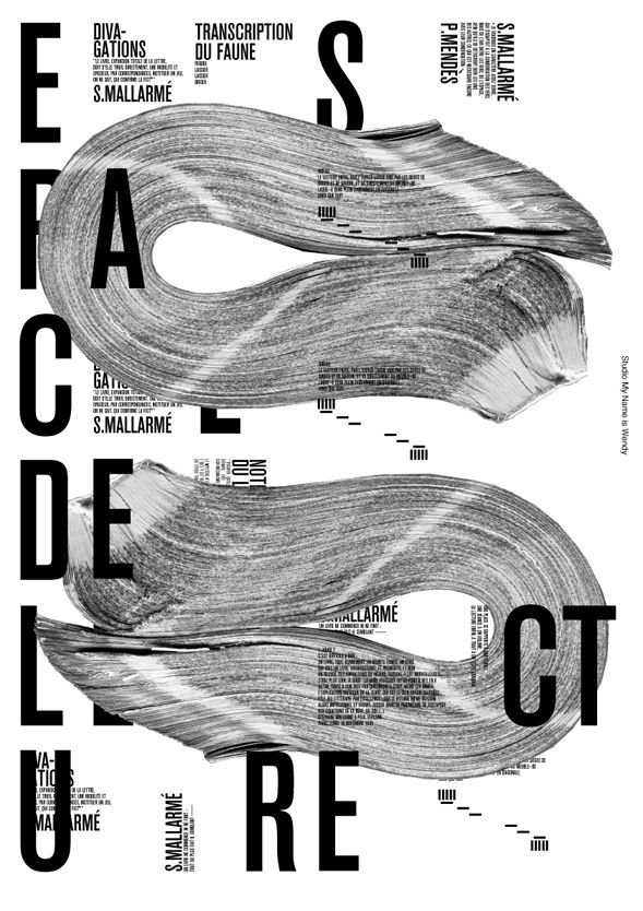 My name is Wendy -  posters celebrating French poet Stéphane Mallarmé #bw #material #paper