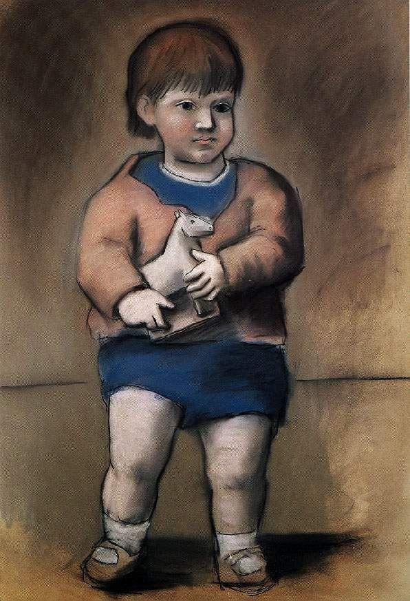 1923 L'enfant au jouet cheval (Paulo)