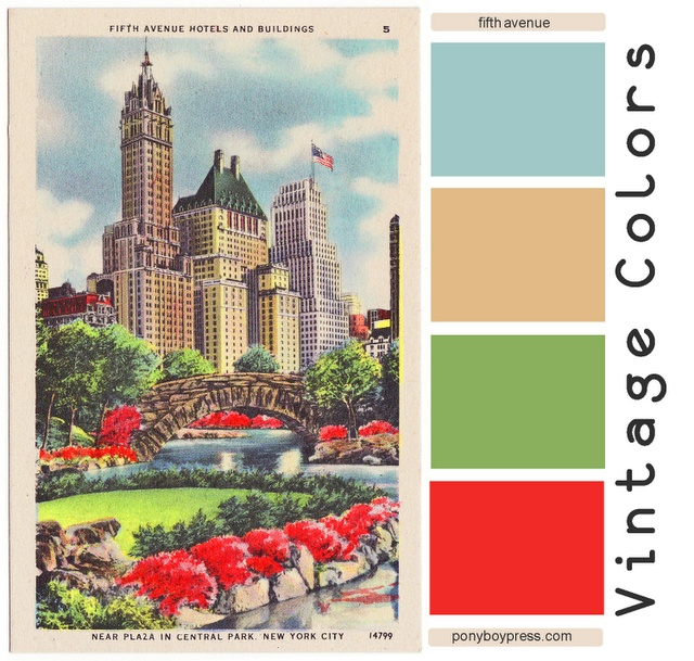 Vintage Color Palettes: fifth avenue