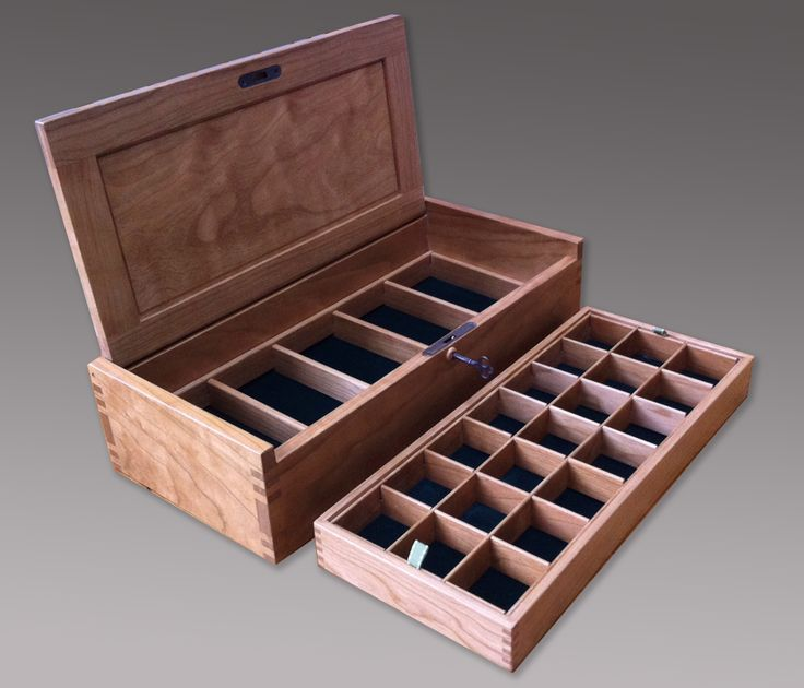 A small jewelry box with a lock. The sides and top are a bit thicker than the earlier design.