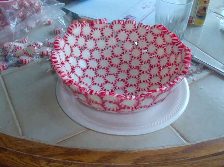 quick and easy way to make a serving dish to give away ...