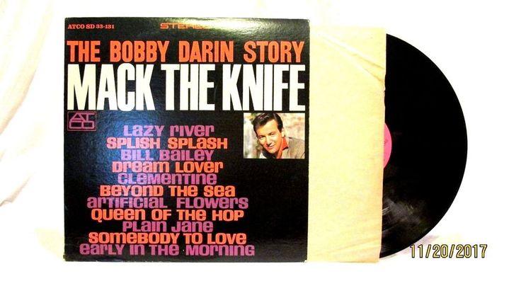 1978 Bobby Darin The Bobby Darin Story Vinyl LP 33 Record ATCO SD 33 131 #RocknRoll
