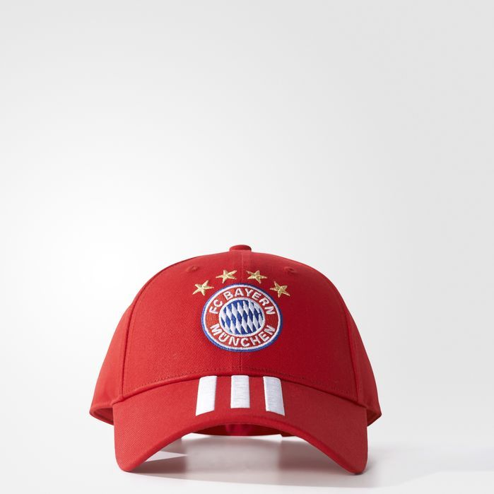 adidas FC Bayern Munich 3-Stripes Hat - Mens Soccer Hats