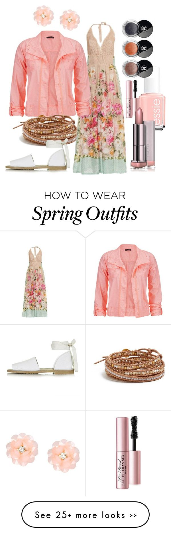 """""""Three Season Outfit: Spring, Summer and Fall"""" by cindiawb on Polyvore featuring Emamò, maurices, Chan Luu, Essie, Too Faced Cosmetics, Chanel, Topshop and Dettagli"""